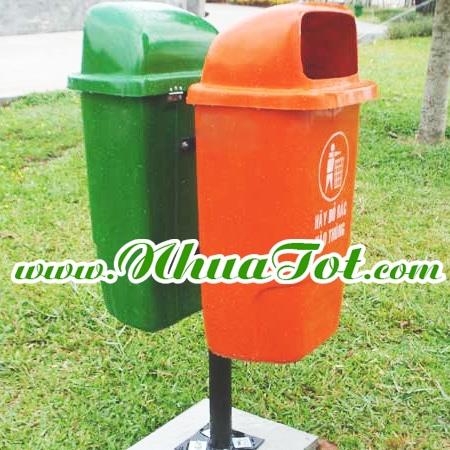 Thùng rác phân loại 2 ngăn