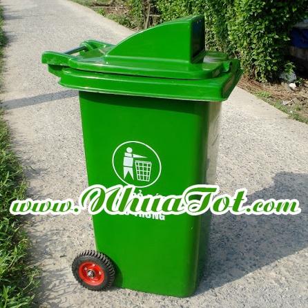 Thùng rác 240 lít nắp hở