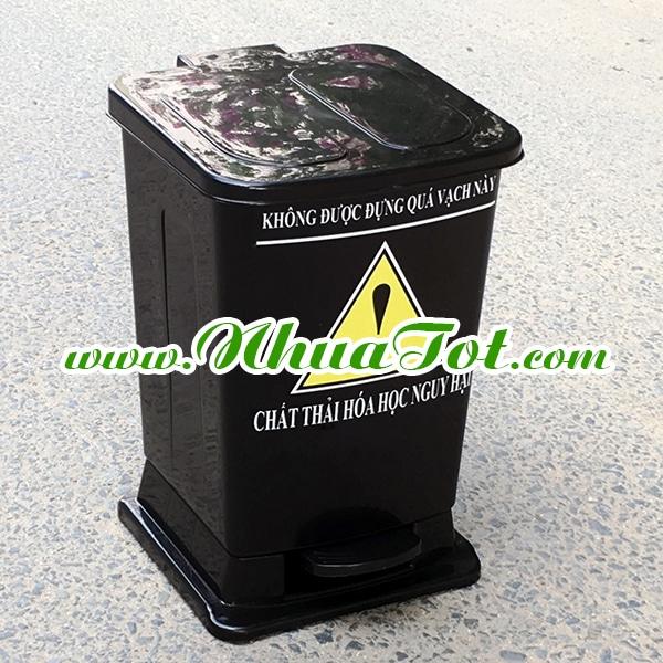 Thùng rác y tế 15 lít đen