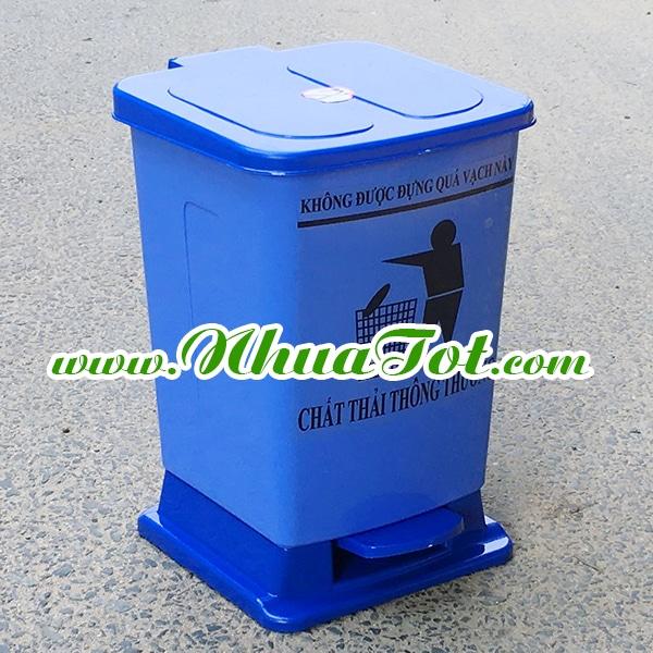 Thùng rác y tế 15 lít xanh dương