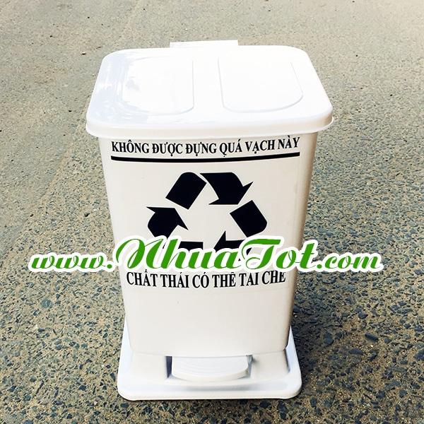 Thùng rác y tế 15 lít trắng