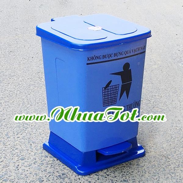 Thùng rác y tế 20 lít xanh dương
