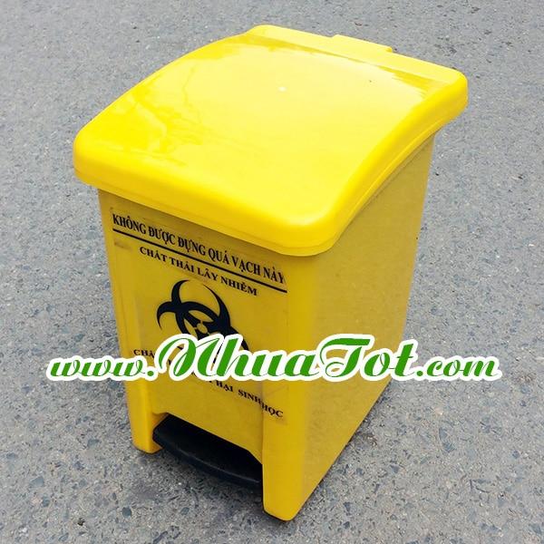 Thùng rác y tế 20 lít Vàng