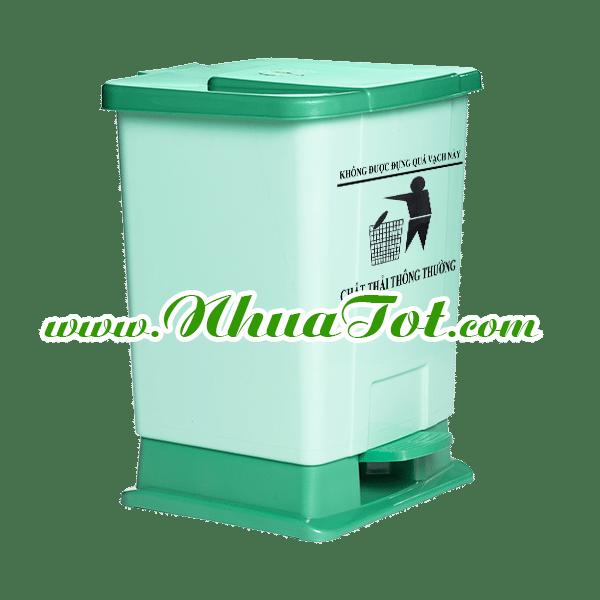 Thùng rác y tế 20 lít xanh lá