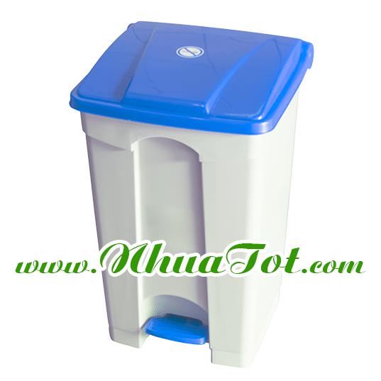 thùng rác đạp chân