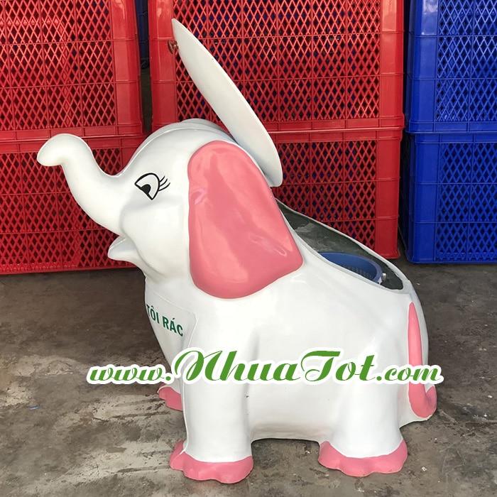 Thùng rác hình con voi