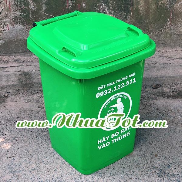 Thùng rác 60 lít màu xanh lá