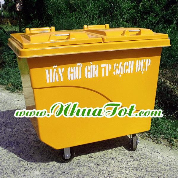 Thùng rác y tế 660 lít composite