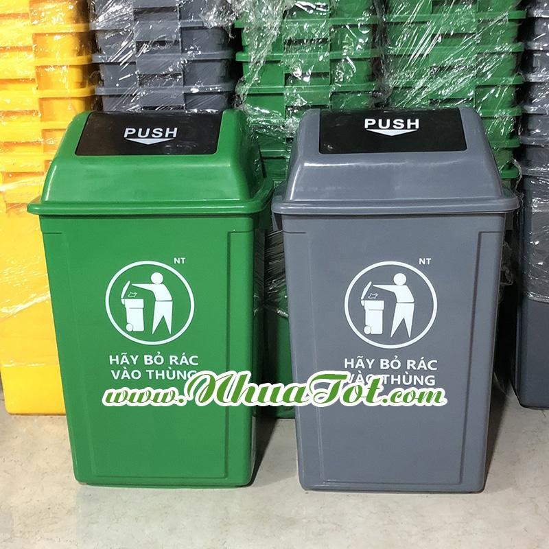 Thùng rác 60 lít Push