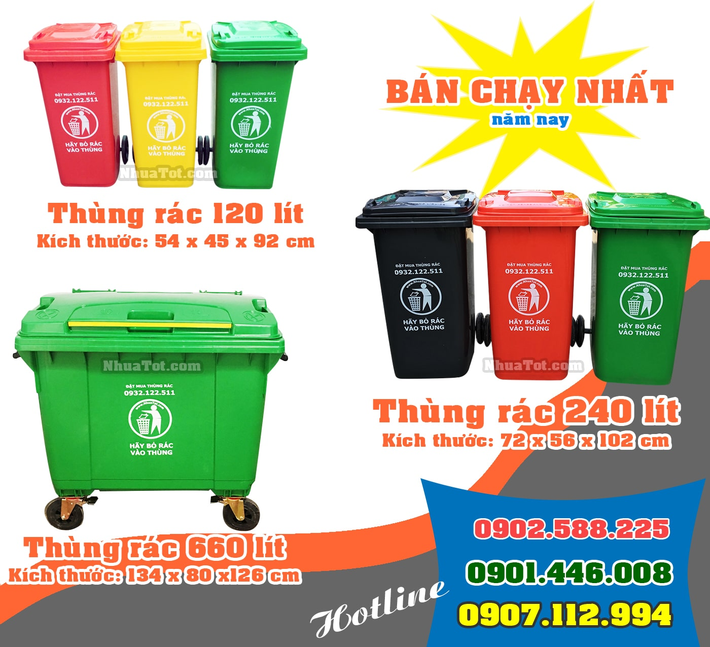 Thùng rác Nhựa Tốt